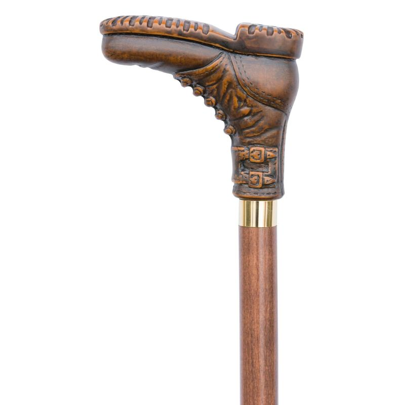 Brown Boot Novelty Walking Cane