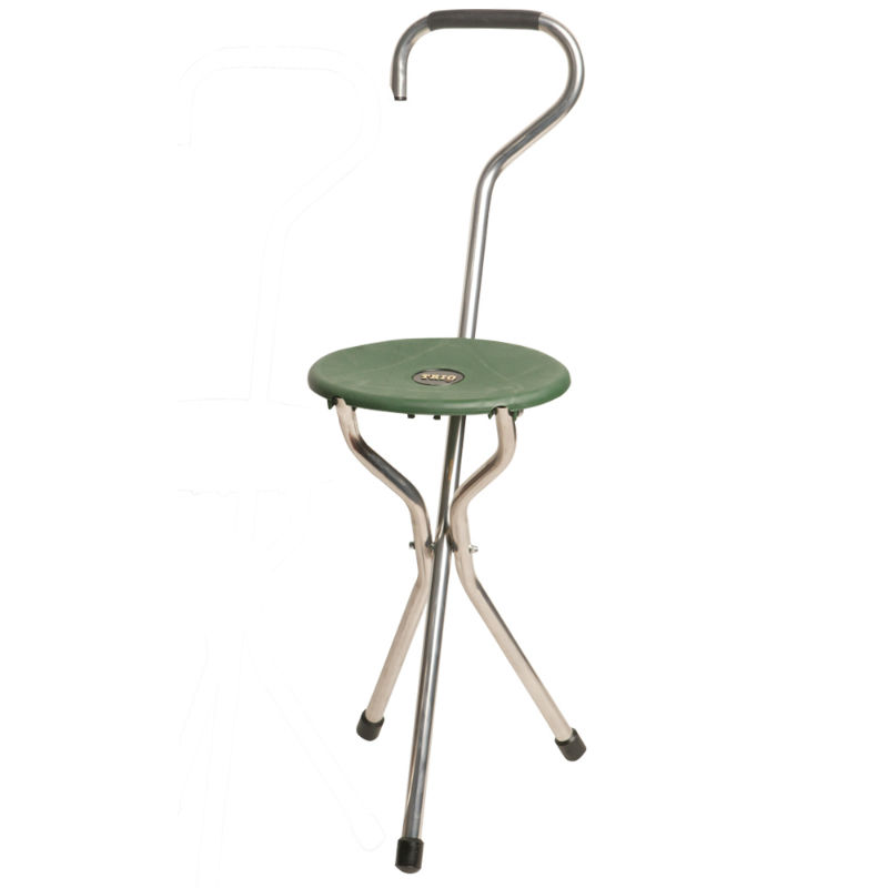 Green Crook Trio Folding Seat Stick