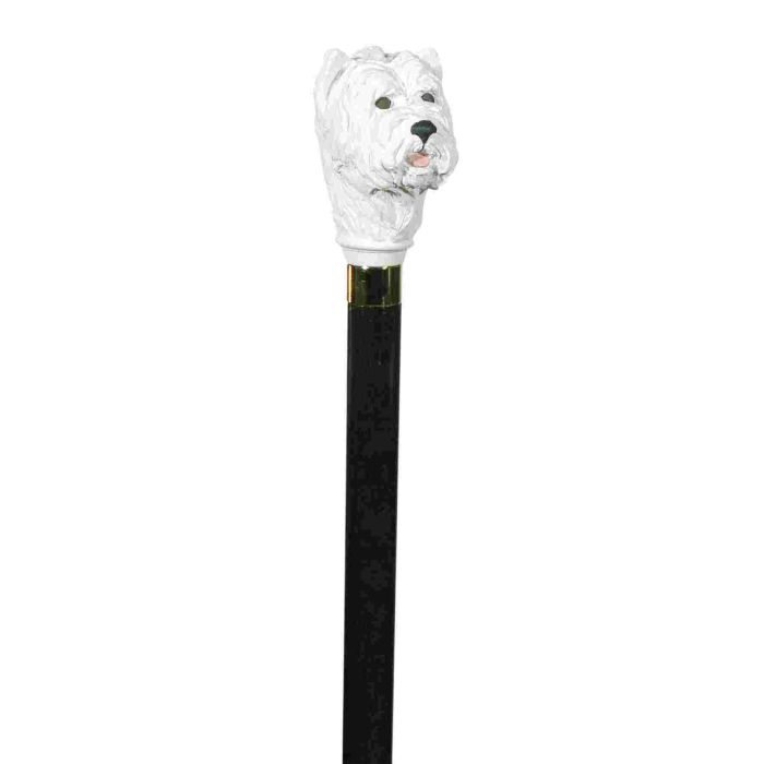Hand Painted West Highland Terrier Hardwood Cane