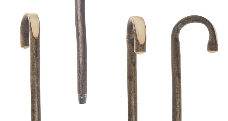 Hazel Crook Handle Walking Stick