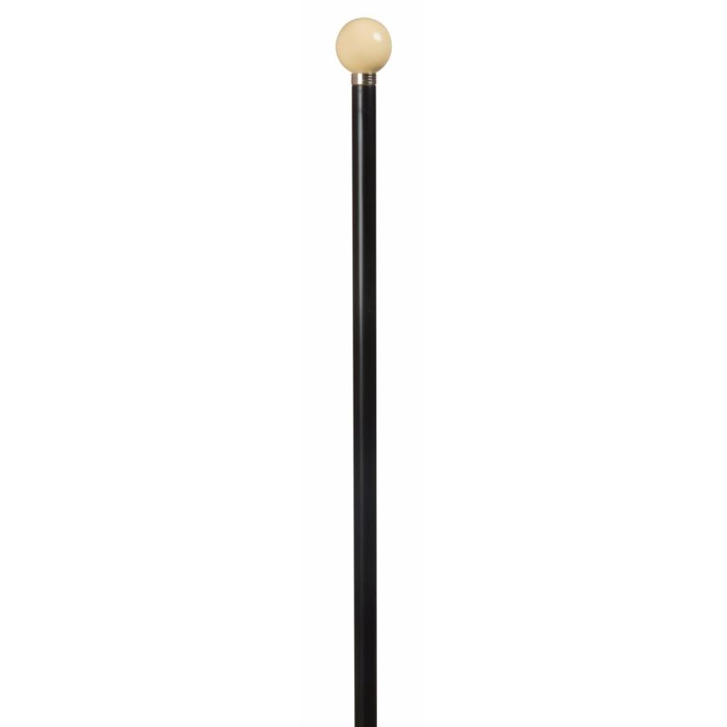 Imitation Ivory Spherical Top Walking Cane