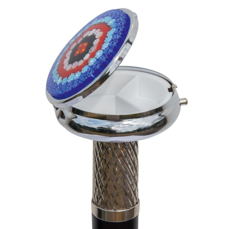 Pill Box Cane with Millefiori Murano Glass Lid