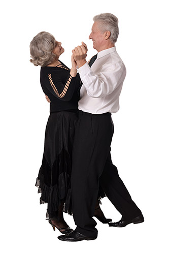 Elegant Elderly Couple Dancing