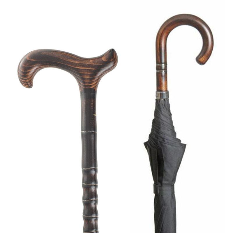27c7700e8bde9 Gentleman's Cane and Umbrella Set - WalkingSticks.co.uk