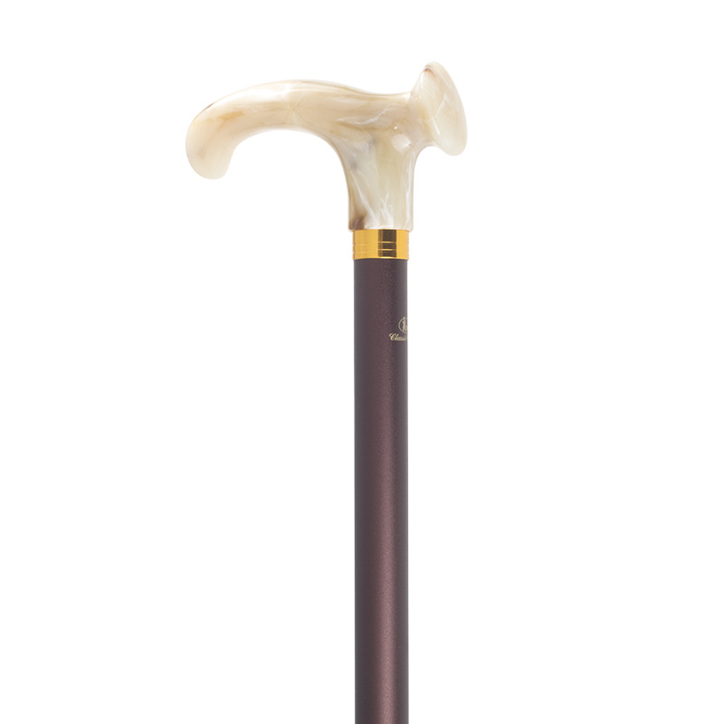 Adjustable Relax-Grip Marbled Cream Orthopaedic Walking Cane