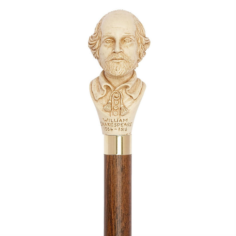 William Shakespeare Bust Walking Stick