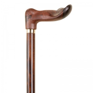 Anatomical Wood-Effect Hardwood Walking Stick