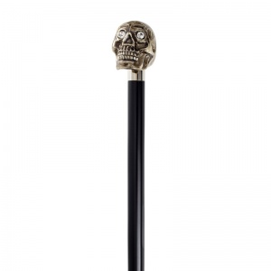 Antique Finish Skull Walking Cane with Swarovski Elements Eyes