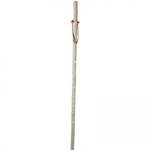 Ash Hiking Staff with Red Cord Wrist Strap