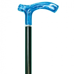Azure Crutch Handle Dress Cane