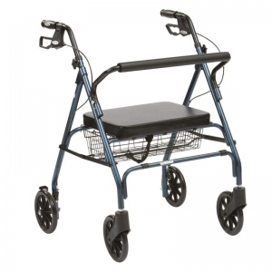 Drive Medical Blue Heavy-Duty Rollator
