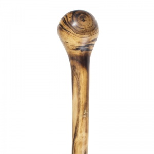 Long Scorched and Polished Ash Coppice Knobstick Country Walking Stick
