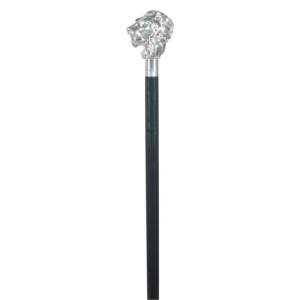 Silver-Plated Lion Cane
