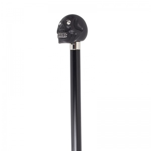 Black Skull Cane with Swarovski Eyes