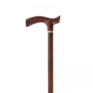 Amber-Effect Crutch Handle Wooden Walking Stick