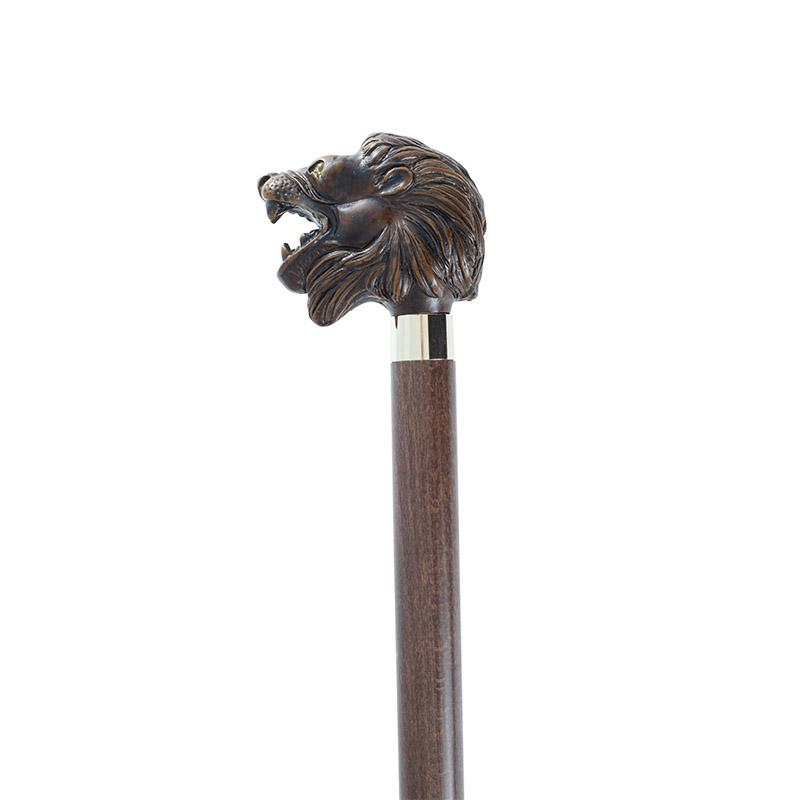 Brown Lion Walking Stick